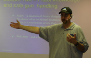 Mark teaching the Concealed Handgun Carry Class
